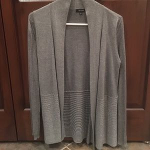 Verve Ami Soft gray cardigan with silver shimmer